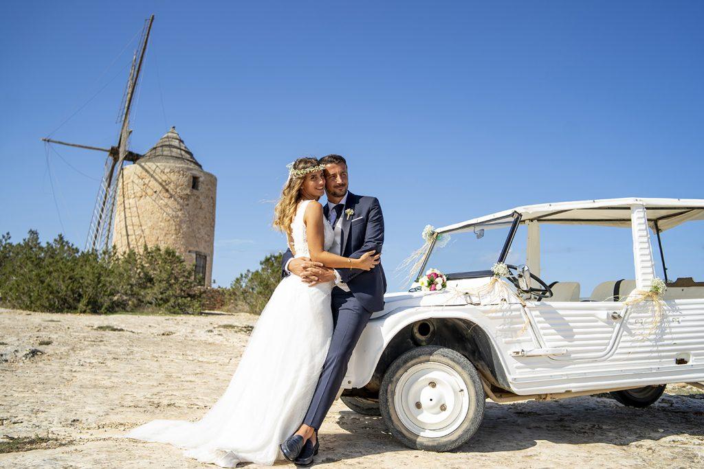 fotógrafo boda en Formentera playa migjorn balear  molino