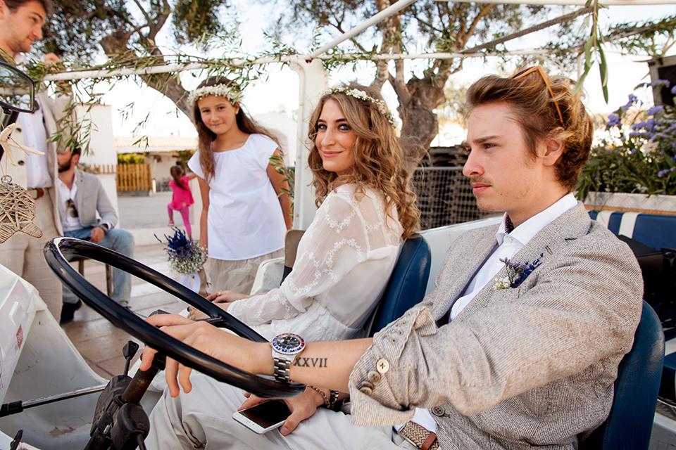 fotógrafo boda en Formentera playa migjorn balear mehari