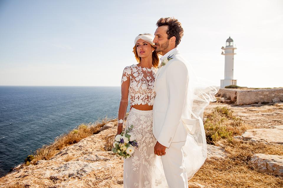 fotógrafo boda en Formentera playa migjorn balear faro la mola es cap san francesc iglesia
