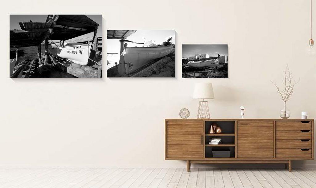 fotografía de Formentera en blanco y negro sobre aluminio